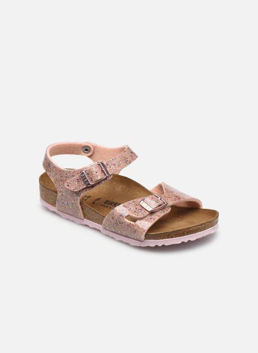 Sandales et nu-pieds Birkenstock RIO Birko-Flor K Rose vue détail/paire