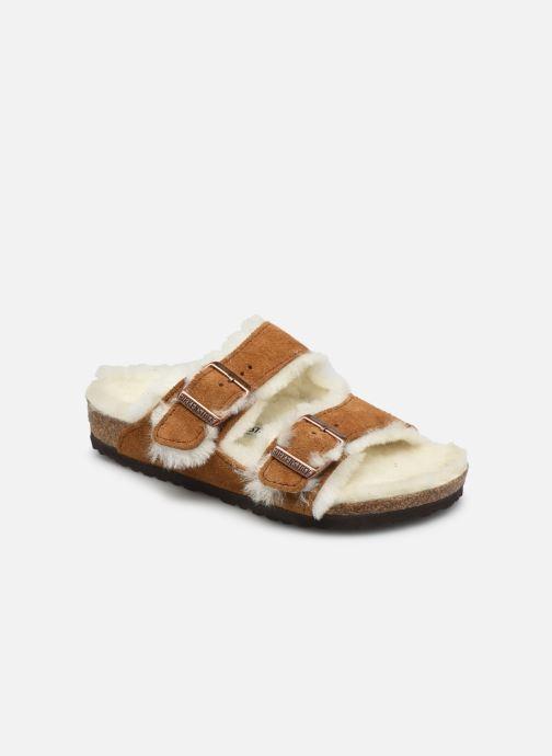 Sandales et nu-pieds Birkenstock ARIZONA FUR Cuir Suede K Marron vue détail/paire