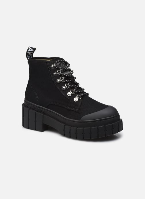 Stiefeletten & Boots No Name KROSS LOW BOOTS BIG CANVAS BLACK schwarz detaillierte ansicht/modell