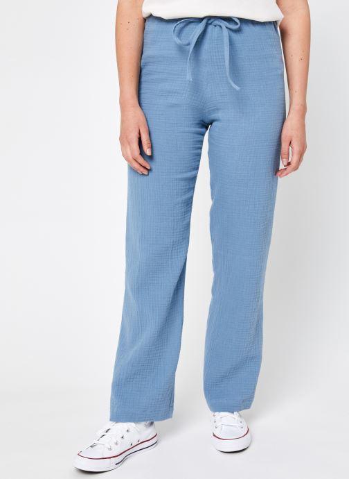 Vêtements Sarenza x Elise Chalmin Pantalon Laure Bleu vue détail/paire