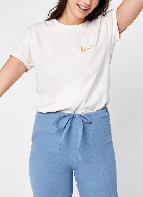 Vêtements Sarenza x Elise Chalmin T-shirt Juli Blanc vue détail/paire
