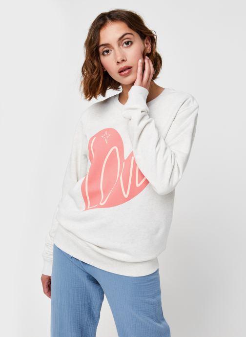 Vêtements Sarenza x Elise Chalmin Sweat Babe Blanc vue détail/paire