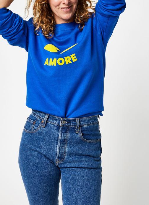 Vêtements Accessoires Sweat Bouche Coeur Bleu Royal