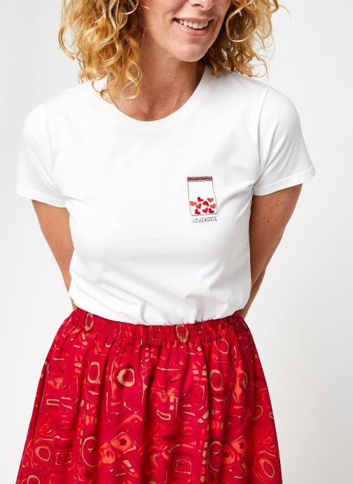 Kleding Accessoires T-Shirt Loverdose Blanc