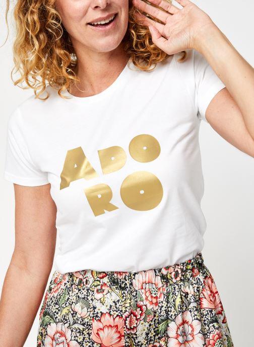 Kleding Accessoires T-Shirt Adoro Gold Blanc