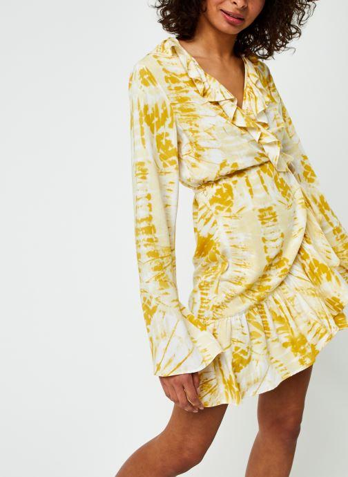 Kleding Selected Femme Slfdrew Ls Ruffle Dress Ex Beige detail