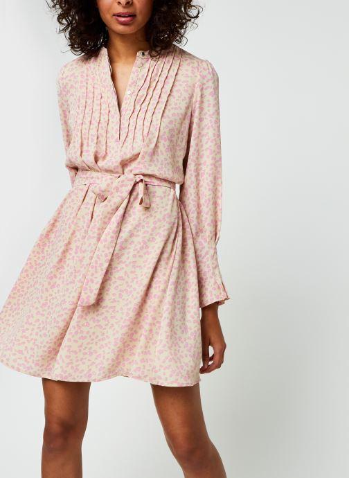 Kleding Selected Femme Slflivia Ls Aop Short Dress B Beige detail