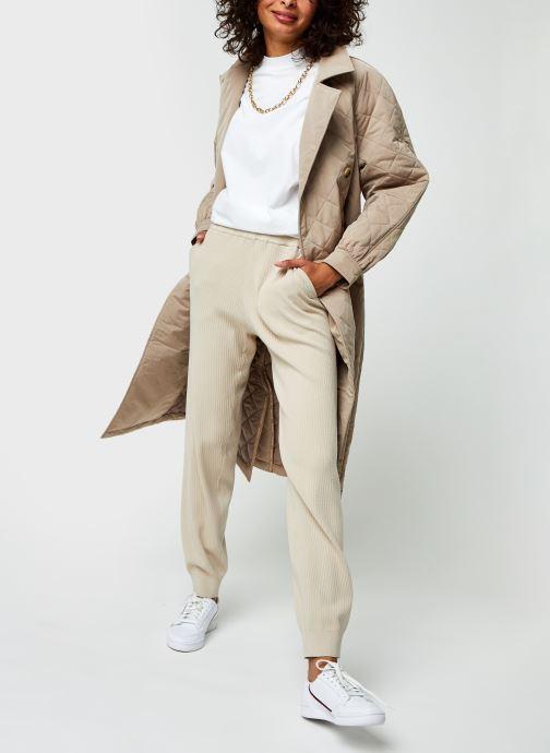 Vêtements Selected Femme Slfmacy Mw Rib Knit Pant B Beige vue bas / vue portée sac