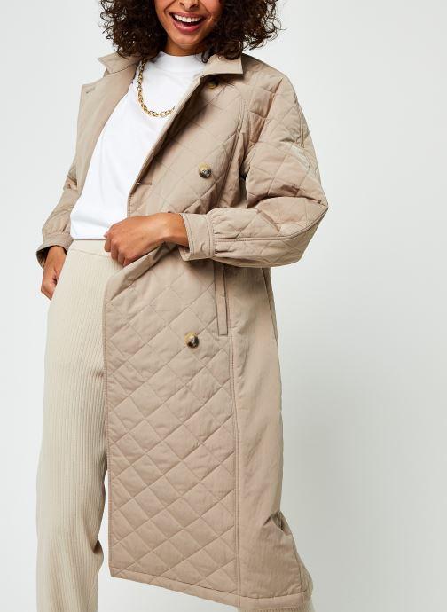 Kleding Selected Femme Slfninna Quilted Trenchcoat B Beige detail