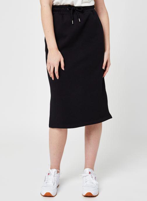 Vêtements Selected Femme Slfrisma Mw Midi Skirt B Noir vue détail/paire