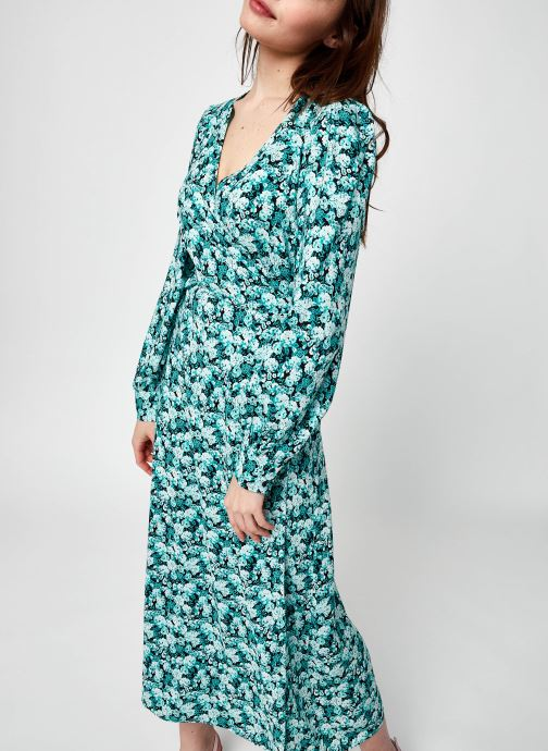 Vêtements Y.A.S Yasgreeni Ls Long Wrap Dress - D2D Vert vue détail/paire