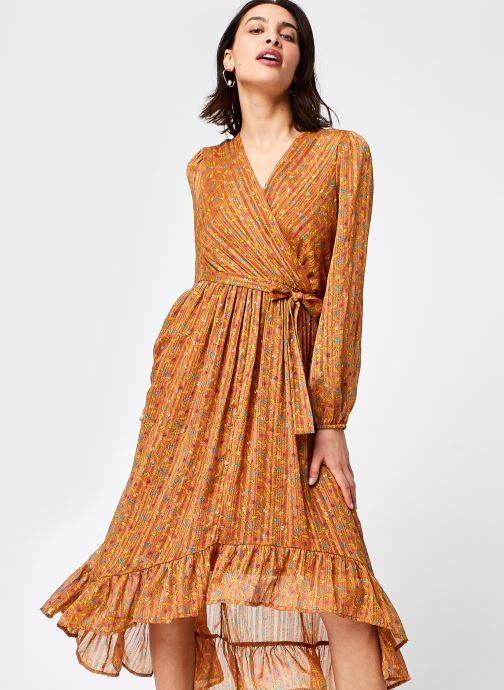 Vêtements Vero Moda %Vmjosephine Ls Fril Ancle Dress Wvn Lcs Marron vue détail/paire