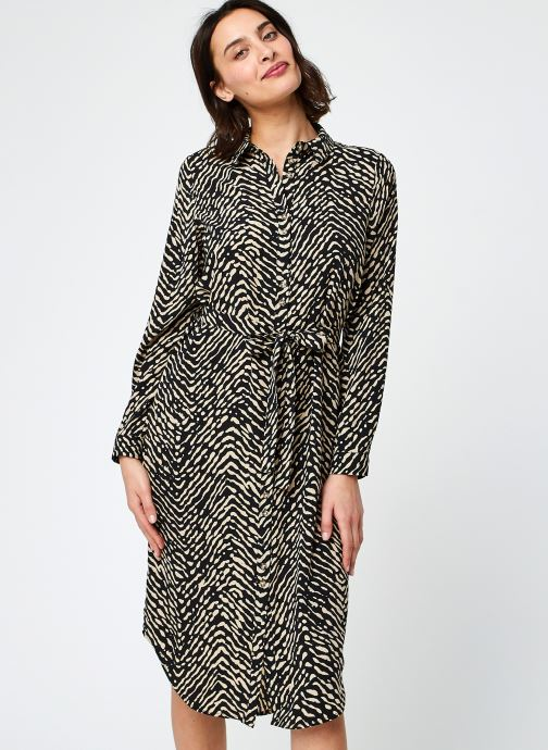 Vêtements Vero Moda Vmani L/S Shirt Dress Wvn Lcs Noir vue détail/paire