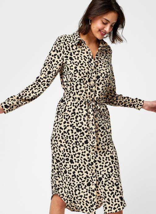 Kleding Vero Moda Vmani L/S Shirt Dress Wvn Lcs Bruin detail