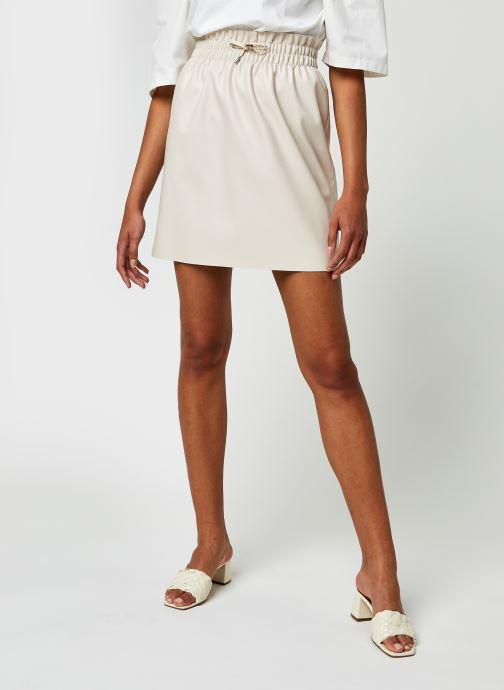 Vêtements Vero Moda Vmava Hw Short Coated Skirt Beige vue détail/paire