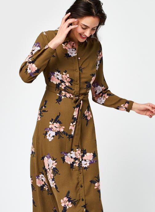 Vêtements Vero Moda Vmnewallie L/S Maxi Dress Exp Ga Vert vue détail/paire