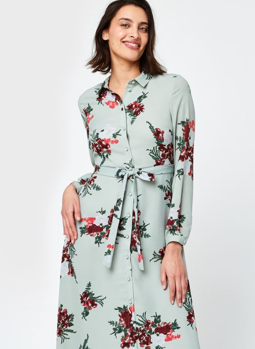 Kleding Vero Moda Vmnewallie L/S Maxi Dress Exp Ga Groen detail