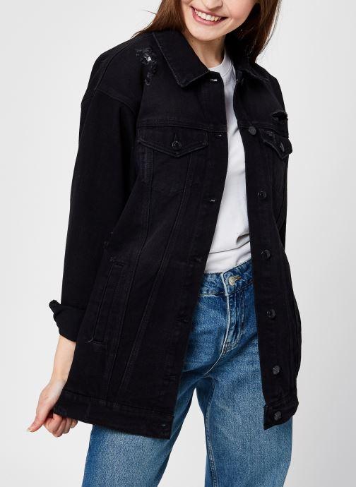 Vêtements Vero Moda Vmolivia Denim Jacket Noir vue détail/paire
