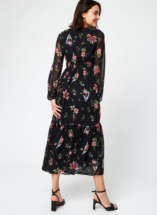 Vêtements Vero Moda Vmpetra L/S Ancle Dress Exp Ga Noir vue portées chaussures