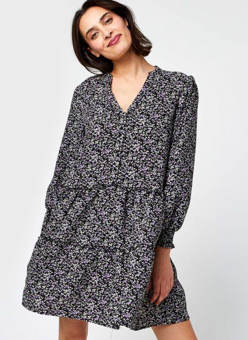 Vêtements Vero Moda Vmshive L/S Smock Short Dress Exp Noir vue détail/paire