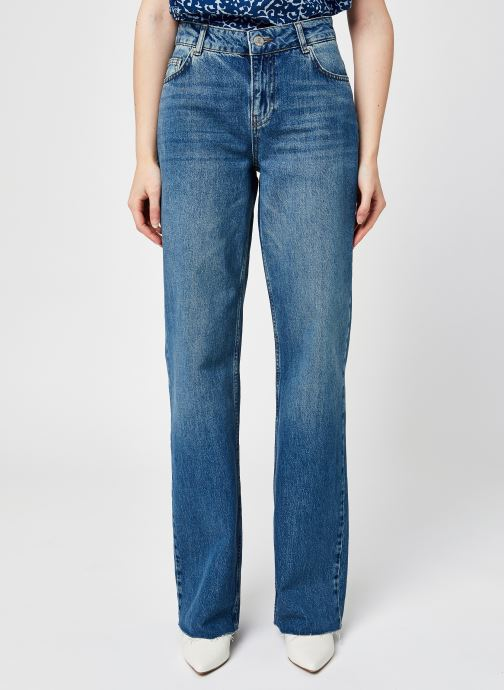 Vêtements Noisy May Nmamanda Nw Wide Jeans Ki070Mb Bg Bleu vue détail/paire