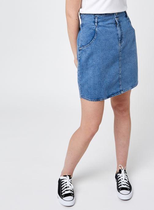 Vêtements Noisy May Nmashley Hw Short Dnm Skirt Bi033Lb Bg Bleu vue détail/paire