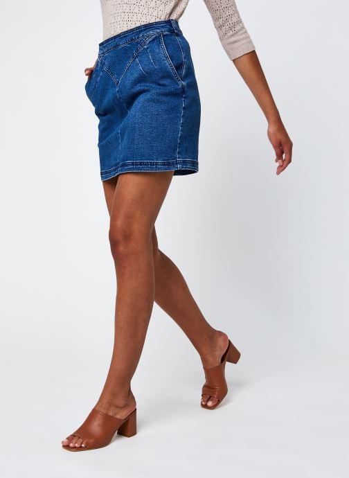 Vêtements Noisy May Nminci Hw Cut Detail Skirt Mb Bg Bleu vue détail/paire