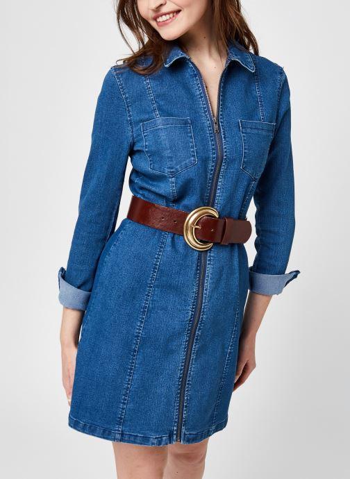 Kleding Noisy May Nmlisa Denim Zip Dress Su00Mb Noos Blauw detail