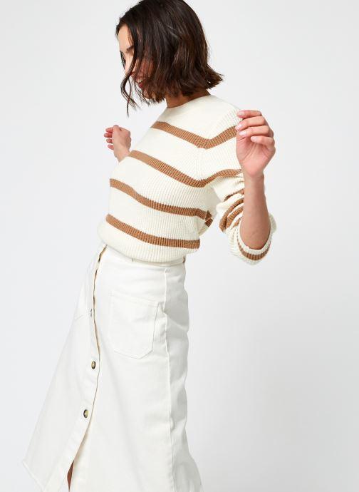 Vêtements Noisy May Nmlisa L/S O-Neck Knit Beige vue détail/paire