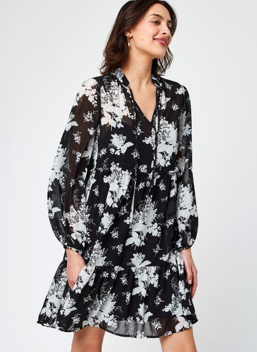 Kleding Vila Vitullan L/S Flower Dress /1 Zwart detail
