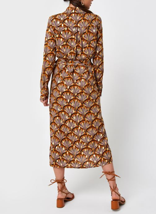 Vêtements Vila Vizino L/S Midi Shirt Dress/1 Marron vue portées chaussures