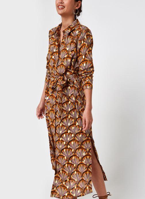 Kleding Vila Vizino L/S Midi Shirt Dress/1 Bruin detail