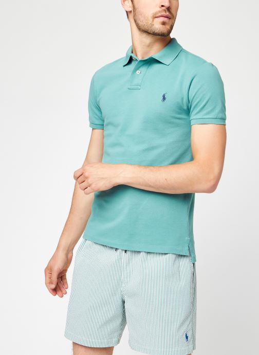 Vêtements Polo Ralph Lauren Ss Kc Slim Fit Model 1 Vert vue détail/paire