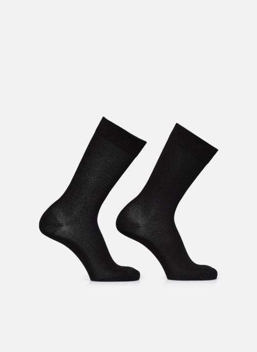 Calze e collant BLEUFORÊT Chaussettes Coton Duo Jersay Nero vedi dettaglio/paio
