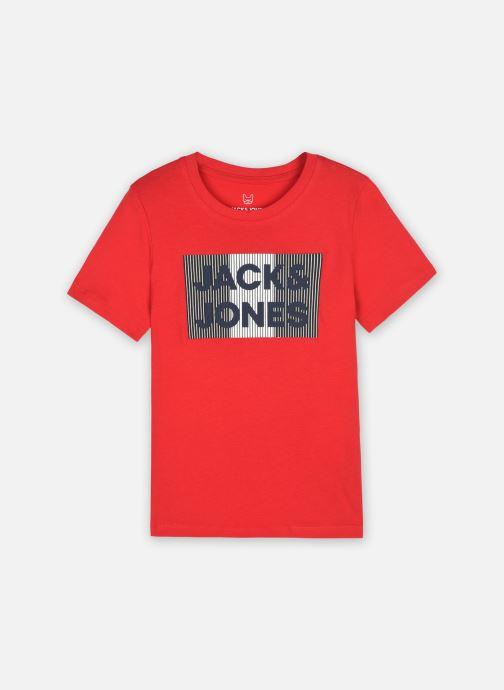 Vêtements Jack & Jones Jjecorp Logo Tee Ss Crew Neck Noos Jr Rouge vue détail/paire