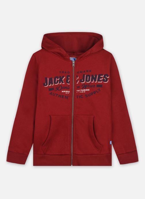 Kleding Jack & Jones Jjelogo Sweat Zip Hood 21/22 Noos Jr Rood detail