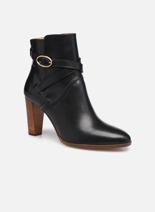 Boots en enkellaarsjes Vanessa Bruno Bottines En Cuir Lisse A Straps Zwart detail