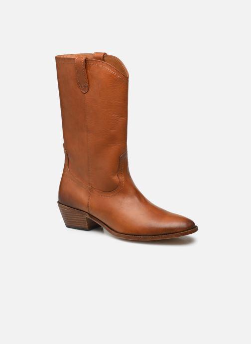 Bottines et boots Femme Bottes Santiags Courtes 40Mm En Cuir Vegetal