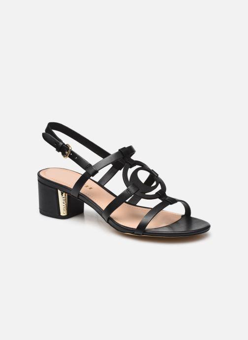 Sandales et nu-pieds Coach Edina Leather Sandal Noir vue détail/paire