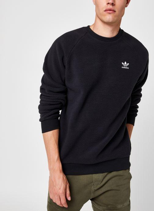 Vêtements adidas originals Plrfleece Crew Noir vue détail/paire