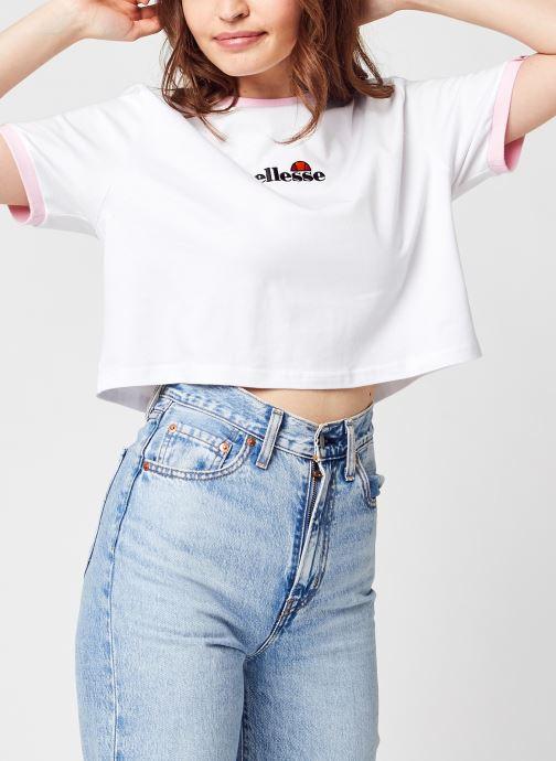 Ropa Ellesse Derla Crop T-Shirt Blanco vista de detalle / par