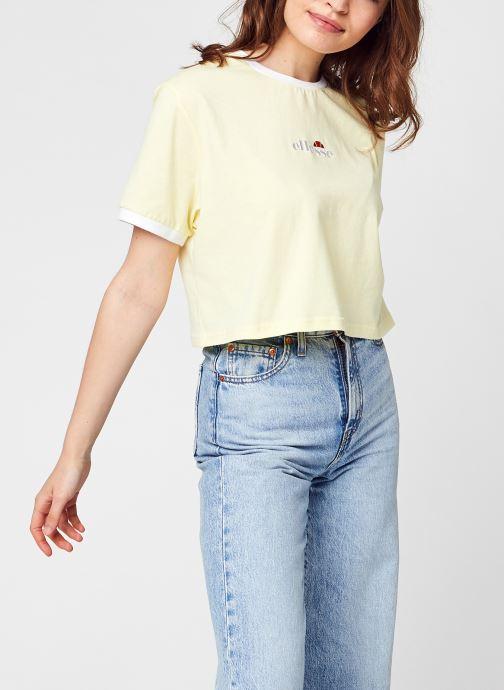 Ropa Ellesse Derla Crop T-Shirt Amarillo vista de detalle / par