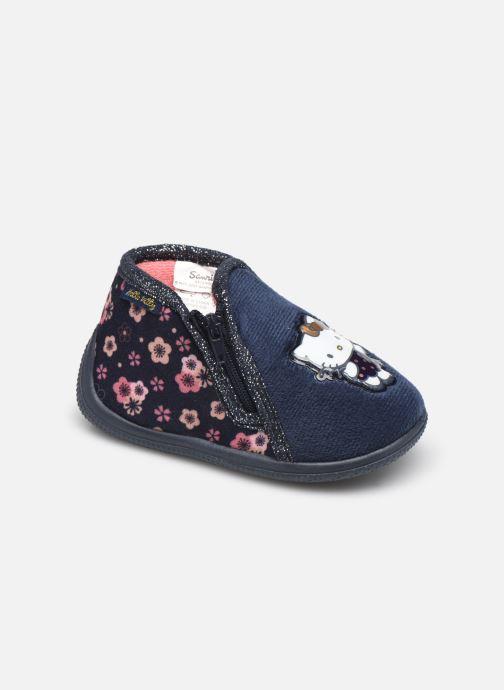 Chaussons Hello Kitty Hk Binta Bleu vue détail/paire