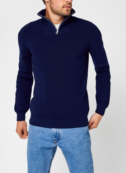 Kleding Accessoires VALLEY 1/2 neck zip merino wool rib knit - GOTS