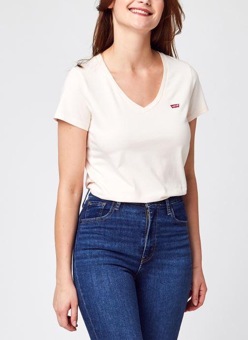 Vêtements Levi's Perfect Vneck Blanc vue détail/paire