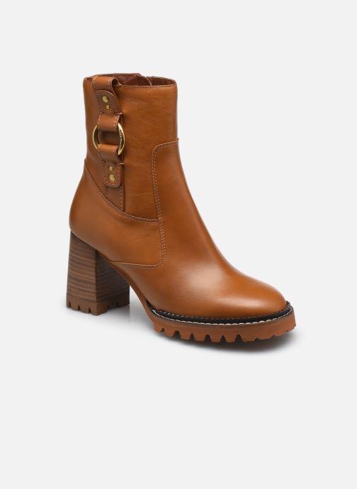Stiefeletten & Boots See by Chloé Erine Ankle Boot High Heel braun detaillierte ansicht/modell