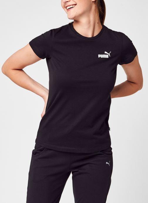 Vêtements Puma W Ess Logo Tee Noir vue détail/paire
