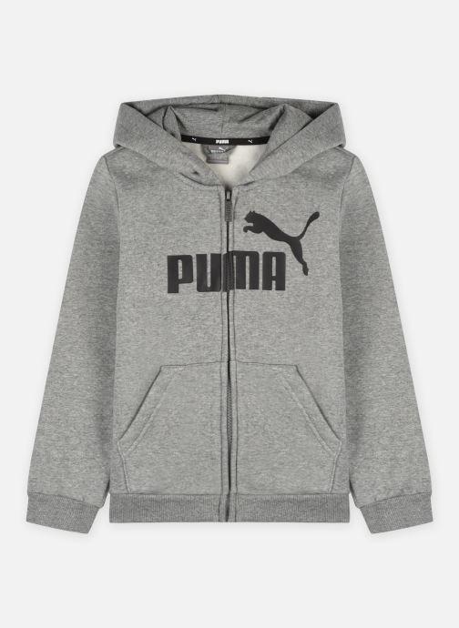 Vêtements Puma Jr Ess Logo Fz Hoody Fl Gris vue détail/paire