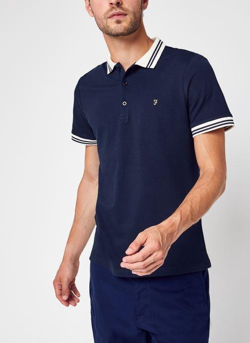 Vêtements Farah Stanton Ss Polo Bleu vue détail/paire