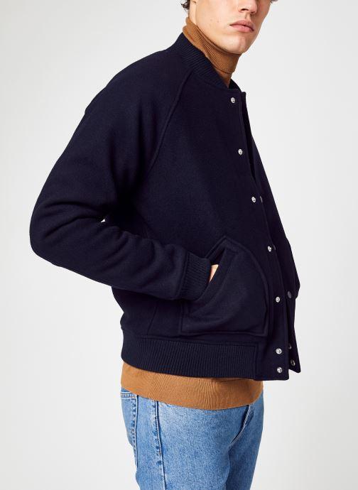 Vêtements Farah Bridger Bomber Bleu vue détail/paire